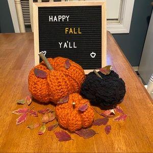 Handmade crochet fall decor pumpkins 🍁